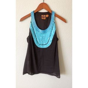 Tory Burch tank top size 6 with beads